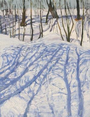 Март. Тени на снегу Загонек