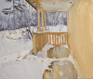 Веранда, занесённая снегом Загонек