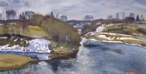 Начало апреля на реке Мста Загонек