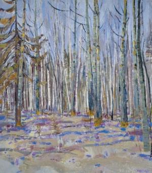 Весенний лес Загонек