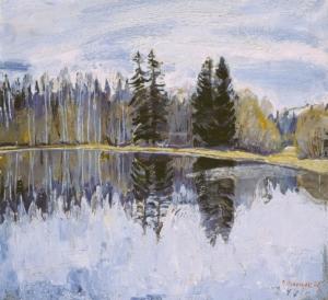 Лесное озеро Загонек