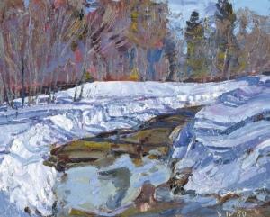 Тропа в снегу Загонек