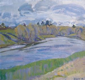 Река Мста. Первая зелень Загонек